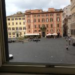 the view outside Room #7 overlooking Piazza Farnese.