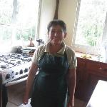 Gloria (I believe is her name) is the chef to all the wonderful meals
