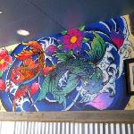 Our hand painted mural from our in-house artist, Maeve!