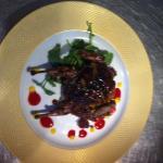 quail with jack Daniels mango glaze