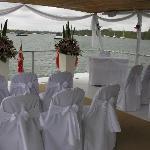 A wedding setup