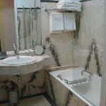 All marble bathroom-so clean
