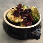 Brussels sprouts with cranberries _honey _chile de arbole as tarragon butter