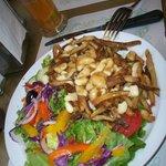 poutine and salad. A balanced meal.