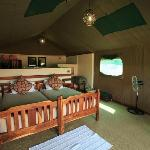 Elephant Valley Lodge tent interior