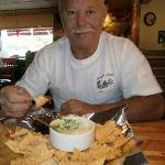 My Artichoke Dip and Chips.