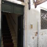 Entrance has a staircase to climb