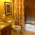 bathroom attached to 2nd bedroom