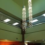 light fixture in lobby