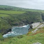 View from the top of the cliff next to the National Coast Watch - Boscastle