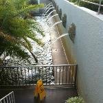Sideview of the waterfall terrace