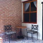 Small patio outside room