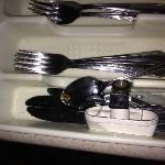 Silverware was filthy!