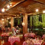 Restaurant beside pool