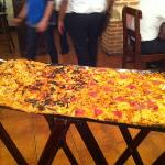 Huge Meter long Pizza