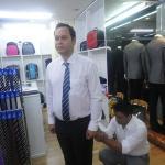 Kim  Halvorsen Norway visited at dp Tailors