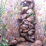 Outdoor rock shower Deluxe Queen suite