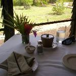 Breakfast table, pretty.