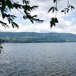 Yverdon- view over Lake Neuchâtel