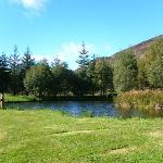 the lochan at the rear
