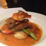 veal medallions w prawn and crab