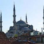 View of the Blue Mosque from Roof Terrace Side Hotel