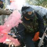 Our group throwing a smoke grenade!