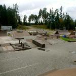 Nearby skatepark in Vuokatti - within biking distance