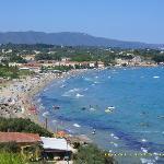 great view from balcony of tsilivi beach