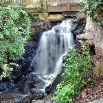 Waterfall beneath the bridge