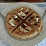 Belgian waffle. You could buy a waffle maker for the price paid.