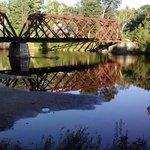 Railroad bridge over the river