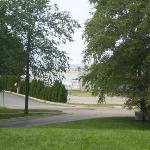 The beach is right through the trees!