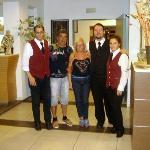 ospiti con lo staff - manca Alessandro e Helga