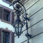Lantern next to the main entrance
