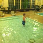 kiddie pool! happy boy
