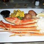 King crab leg dinner