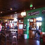 Facing towards the entrance from inside O'Rourkes Irish Pub