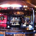 The bar inside O'Rourkes Irish Pub