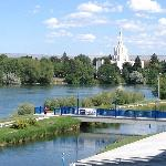 view of river and the LDS temple - very pretty, great location
