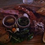 charcuterie board, $14, share this one it's big