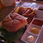 one of their burgers