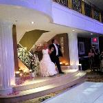 Bride and groom can be introduced from balcony and walk down staircase