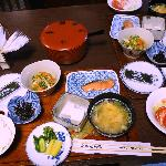 Breakfast at Matsubaya Inn