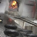 I tegamini per la pizza e il vecchio forno