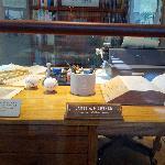 James Michener's desk