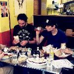 Us eating burritos!