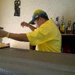 Romeo is the man in charge of the Breezeway bar and he is a great guy to chat with.