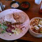 The California Burrito and a bowl of tortilla soup! Yum!
