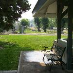 Horseshoes and lawn area